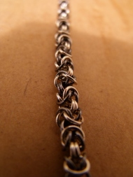 """""""Black and White"""" Silver woven into king's chain. 2011."""