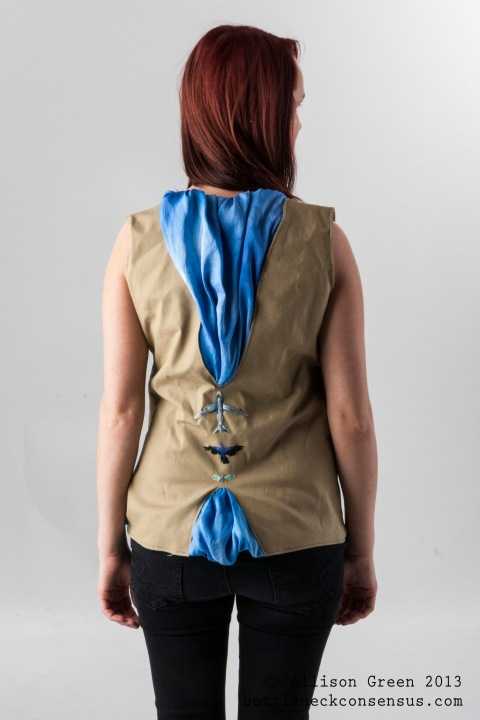 Travelling vest embroidery - Allison Green