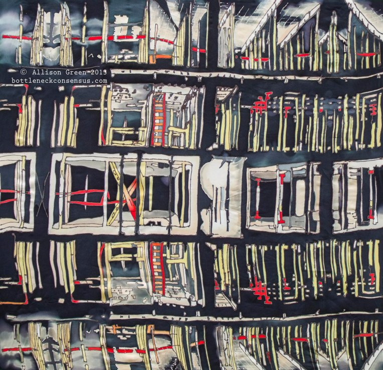Construction Silk Painting  Watermark- Allison Green - Bottleneck Consensus