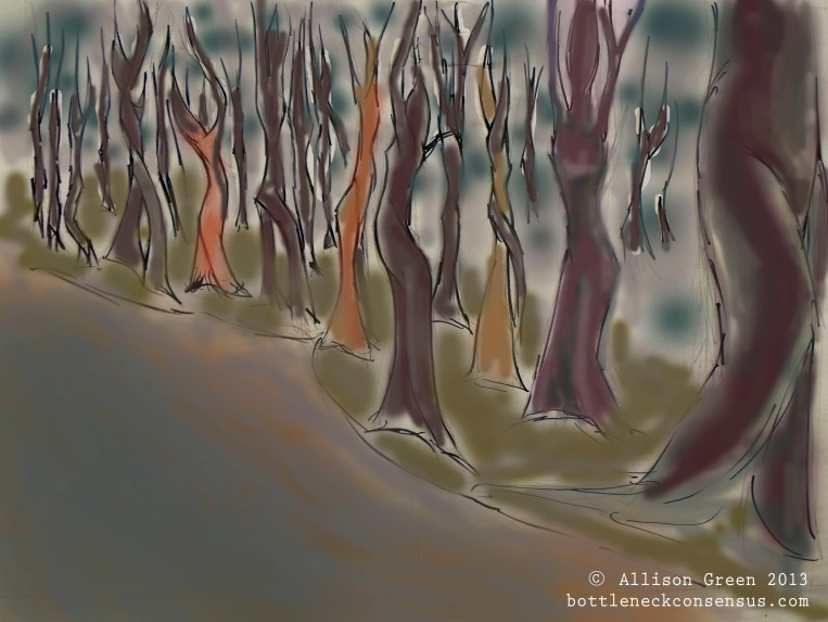 Dancing tree drawing - Allison Green - Bottleneck Consensus
