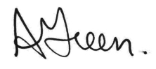 Allison Green Signature